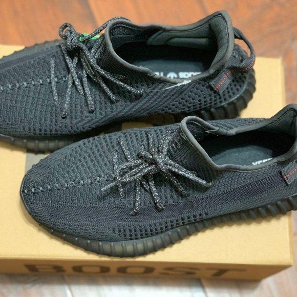 Black Nonreflective Adidas Yeezy Boost